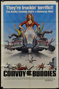 CONVOY BUDDIES 1975 ORIGINAL 27X41 MOVIE POSTER PAUL L. SMITH ANTONIO CANTAFORA