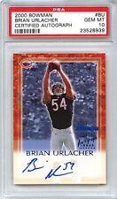 2000 Bowman Certified Autograph #BU Brian Urlacher RC Rookie Card PSA 10 POP 1