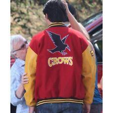 Smallville Clark Kent Red Varsity Cotton Jacket Letterman Faux Leather Sleeves