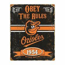 Baltimore Orioles MLB Embossed Metal Vintage Pub Sign Man Cave Wall Decor