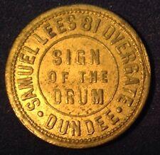 "Samuels 81 Overgate 1/2 D Token ""Sign of The Drum"""