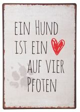 """Laursen - Blechschild """"Ein Hund ist ..."""" Wandschild Metallschild Shabby 8928-00"""