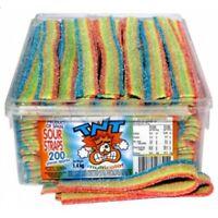 TNT Sour Straps 1.4kg Multicoloured 200 Bulk Lollies Halloween Candy Buffet