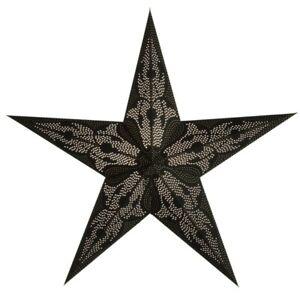 Starlightz Stern Damaskus schwarz Leuchtstern Papier Newstalgie