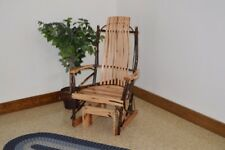 A&L Furniture Co. Amish-Made Hickory Glider Rocker, Available in 3 Finishes