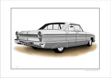 FORD  XM  XP SEDAN PURSUIT 170 LIMITED EDITION CAR DRAWING PRINT (6 CAR COLOURS)