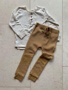 Nico Nico / Pappe Australia bundle henley long sleeve top waffle leggings 3/4 y