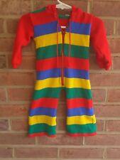 Vintage Bloomingdales Baby Jumper Bright one piece hoodie size 12 mos