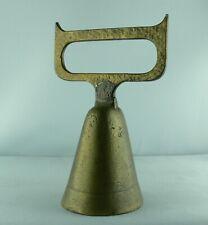 Handglocke Messing Glocke G4470: Kapitänsglocke Tischglocke mit Holzgriff