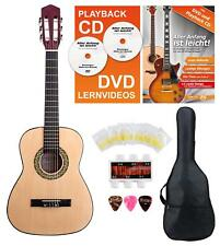 Lefthanded Classic Acoustic Guitar 1/2 Set Nylon Strings Gigbag Pipe Tuner Picks