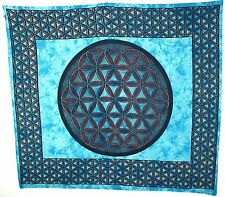 """Traditional India Wall Hangings """"Blume des Lebens """" Wandtuch, Decke Tagesdecke"""