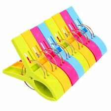 Danmu Colorful Beach Towel Clips for Beach Chair or Pool Loungers 8 Pack