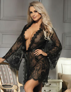 Sexy Plus Size Beautiful Delicate JACKET Robe Lingerie Lace10 12 14 16 18 20 22
