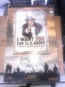 U.S Infantry Officer WW1  1/6 Sideshow -Bayonets and Barbed Wire  .