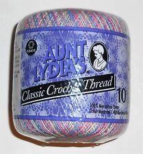 "Tatting Crochet Thread Variegated Pastels Aunt Lydia's ""Pastels"" Size 10 NIP"