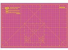 Cutting Mat A1 Double Sided Pink Self Healing 5 Layer Eco Resist + free a3 mat