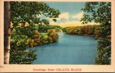 Postcard  Greeting From Orlando Maine