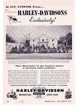 "1948 Vintage Harley Davidson Police Motorcycles ""San Antonio, Texas"" Print Ad"