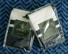 NEW NIP Set of 2 Ralph Lauren Indigo Modern Standard Shams White Navy