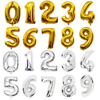 """Gold & Silver 40"""" Letter Foil Balloons Birthday Party """"HAPPY BIRTHDAY"""" Decor"""