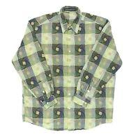 "Jhane Barnes Men XL 50"" Long Sleeve Button Shirt Cotton Abstract Spiral Gorgeous"
