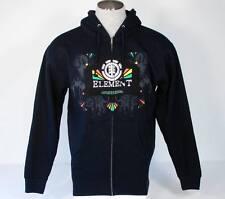 Element Signature Navy Blue Zip Front Hooded Sweatshirt Hoodie Mens Medium M NWT