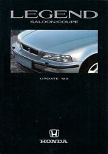 Honda Legend 1993 Model Year Updates UK Market Foldout Brochure Saloon Coupe