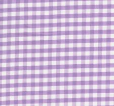Riley Blake Lavender Gingham Check Fabric - End of Roll Remnant 120cm x 110cm