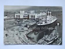 Napoli CONSTITUTION nave ship liner paquebot Lloyd old postcard