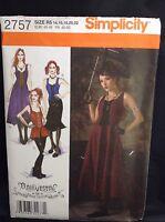 Simplicity 2757 Women Steam Punk Gothic Costume Pattern Size 14-22 FF Uncut New