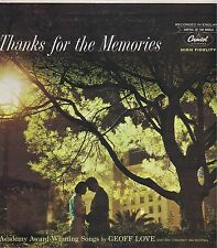 "GEOFF LOVE ""Thanks for the Memories"" Vinyl 33 Record EX 1st LP Released in USA"
