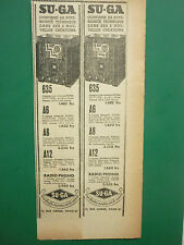 1/1935 PUB SU-GA RADIO 635 A6 A8 A12 RADIO PHONO TOUTES ONDES ORIGINAL AD