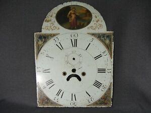 Original Vintage Victorian / Edwardian Ornate enamel Grandfather clock face