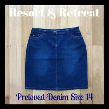 Denim Skirt, Preloved, Size 14, Great Condition