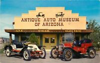 Std Chrome Postcard AZ D724 Antique Automobile Museum of Arizona Scottsdale 1961