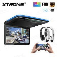 "13.3"" 1080P Car Roof Overhead Flip Down Mount Monitor HDMI USB SD Game +2pcs IR"