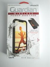 NEW Tzumi Slim Design Guardian Wireless Power 3000 Case For Apple iPhone X
