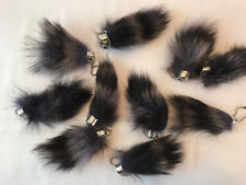 1 REAL RACCOON TAIL KEY CHAIN SMALL wild country animal raccoons keychain