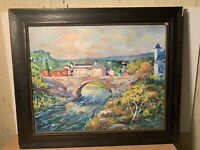 Joseph Rotondo Listed Artist, Vibrant Impressionstic Landscape With Bridge