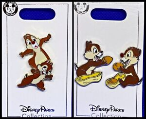 Disney Parks 3 Pin Lot Chip and Dale tumbling + sharing nuts set - NEW