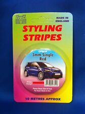 Styling Coachline Red Racing Pin Stripe Single 3mm 10 metres long  (cps01r)