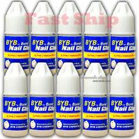 3g 10 Bottles Fake Nail Art Glue Strong Adhesive French False Tips Manicure Tool