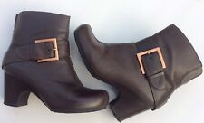 Clarks Active Air Womens Uk4 Brown Leather Ankle Boots Casual Autumn Winter
