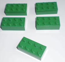 JEU JOUET ENFANT Personnage LEGO * Lot 5 BRIQUES 2 X 4 - VERT  * !!