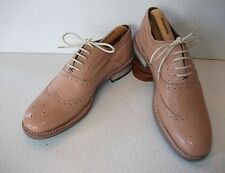 NEW Ted Baker London Guri 8 Nude Salmon Leather Wingtip Oxford Brogues Shoes