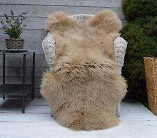 Luxury Sheepskin Rug, Throw, Blanket, Dyed Color Beige Size XXL