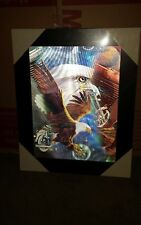 3 Dimensional Motorcycle and Eagle Wall Art