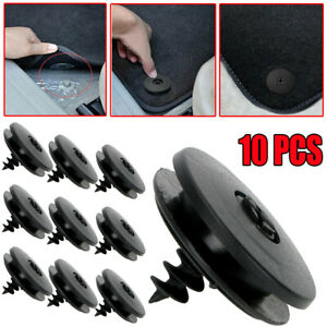10X Car Mat Carpet Clips Fixing Grips Clamps Floor Holders Sleeves Tool Kit