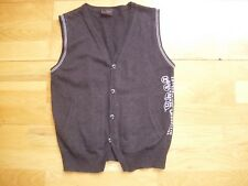 Boys NEXT sleeveless cardigan age 6 charcoal grey excellent condition v