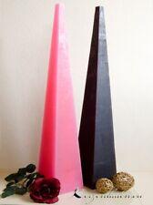 Kerze Pyramidenkerze pink 60cm Kerzen Bodenkerzen Riesenkerzen Raumdekoration
